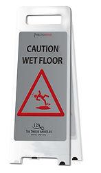 Hectoserve Wet Floor Sign with Aluminium finish