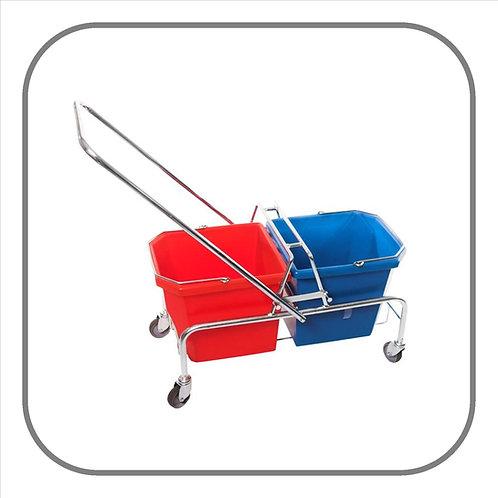 50L Rhino Double Bucket Mop Trolley
