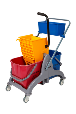 Hectoserve Double Saul Mop Trolley