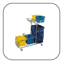 Hectoserve Steel Janitorial Trolley