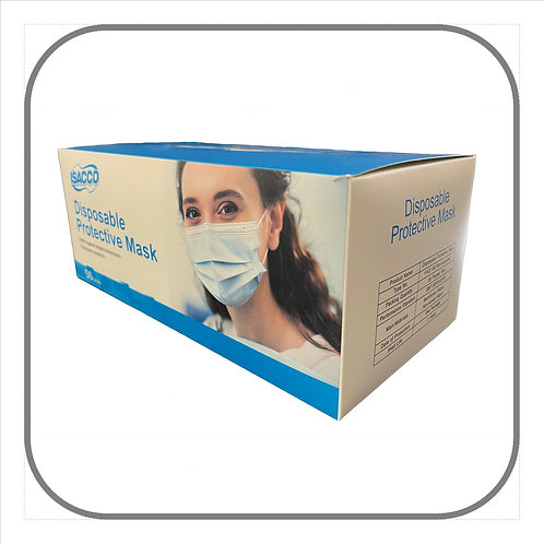 3ply Disposable Masks x 50