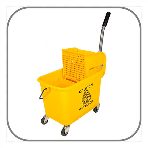 20L Econo Mop Bucket on Castors with Wringer