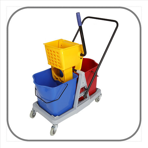 50L Econo Double Bucket Mop Trolley