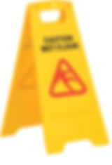 Hectoserve Standard plastic yellow wet floor sign