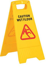 Hectoserve Standard plastic yellow wet floor sign