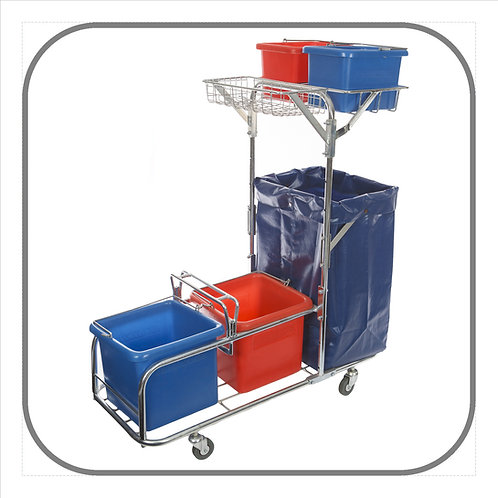 Dirtbuster Steel Janitorial Trolley