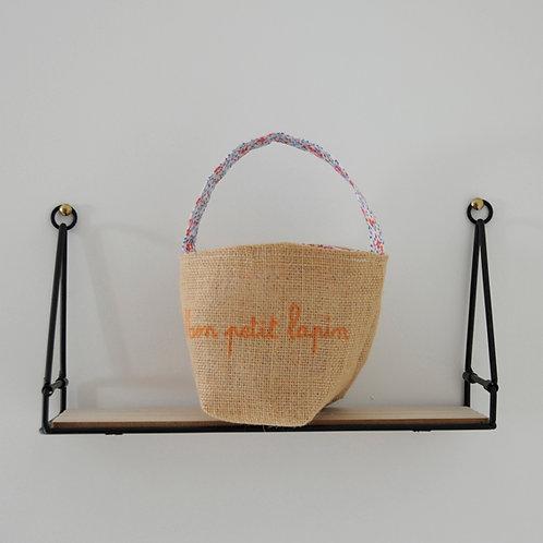 "Panier Pâques ""mon petit lapin"""