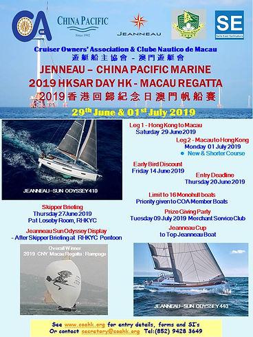21 - Jeanneau CPM 2019 HKSAR Day HK-Maca