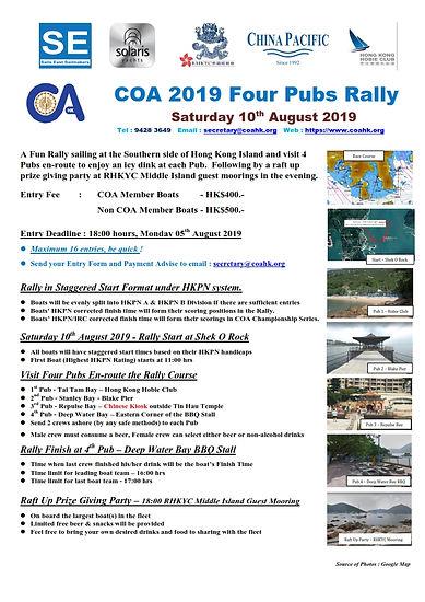 COA 2019 Four Pubs Rally - NOR Flyer (V2