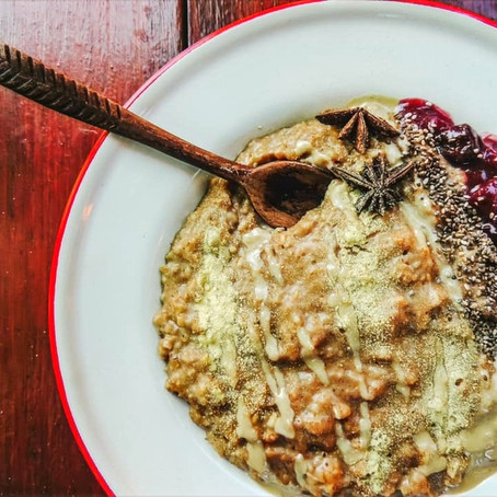 Warming Ayurvedic Spiced Oatmeal