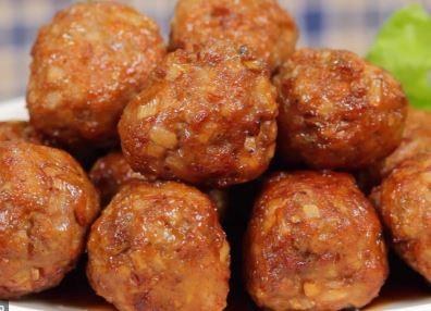 almodegas de soja frita