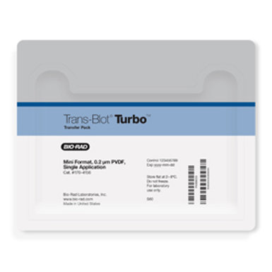 Trans-Blot® Turbo™ Mini PVDF Transfer Packs, 7 x 8.5 cm