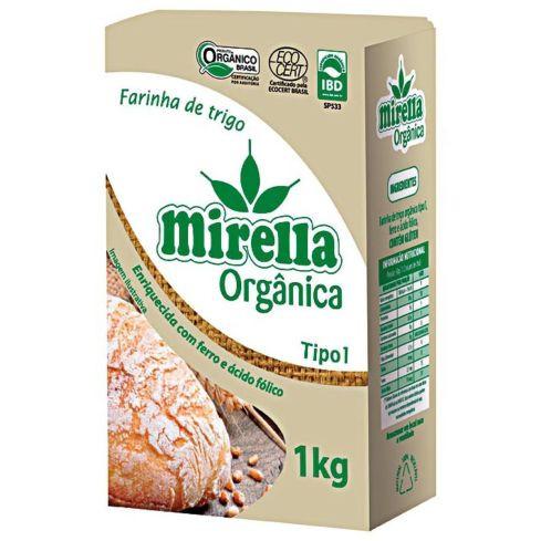 embalagem de farinha de trigo orgânica mirella