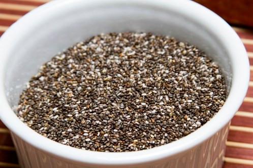pote com semente de chia