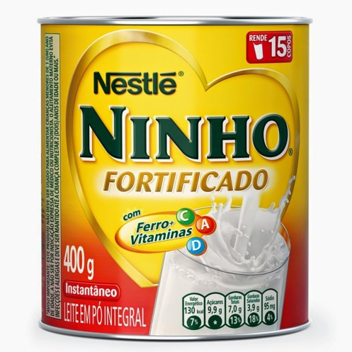 lata de leite com vitaminas