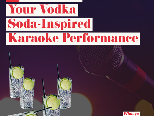 A Review Of Your Vodka Soda-Inspired Karaoke Performance