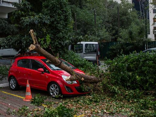 Votre voiture endommagée à la suite d'une violente tempête ?
