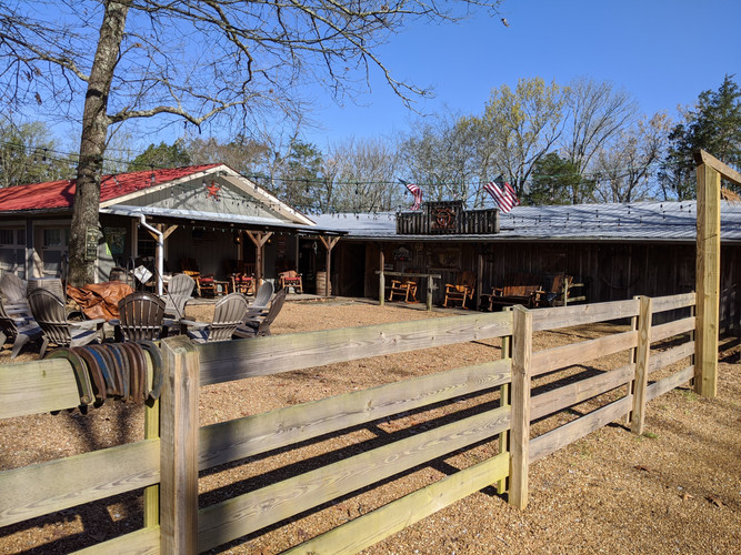 Outdoor Area in front of Willie's Bunkhouse & Saloon