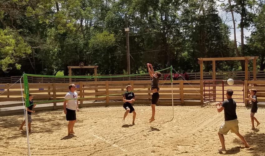 Enjoying Volleyball