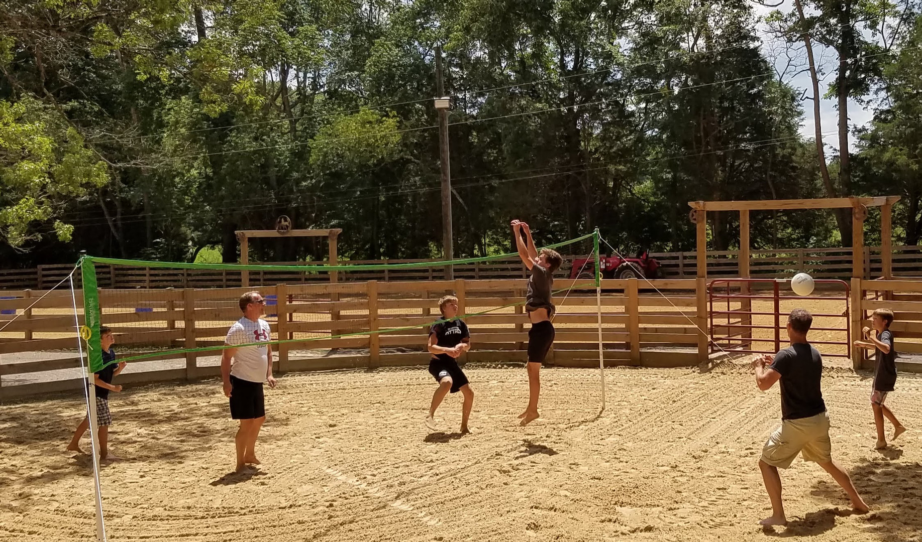 Enjoying Volleyball