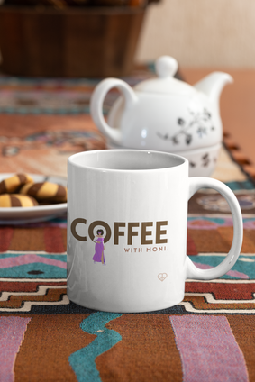 Coffee with Moni Primary Logo