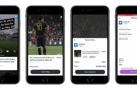 Snapchat與SeatGeek合作加入售票功能?😎