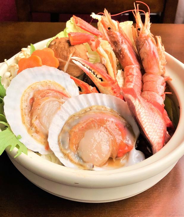 地場産の海鮮鍋