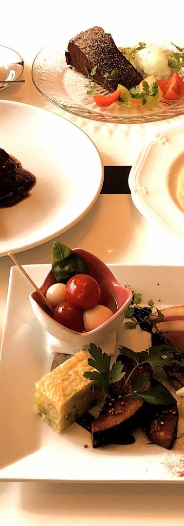 食事付き宿泊プランのフルコース・ディナー(例)