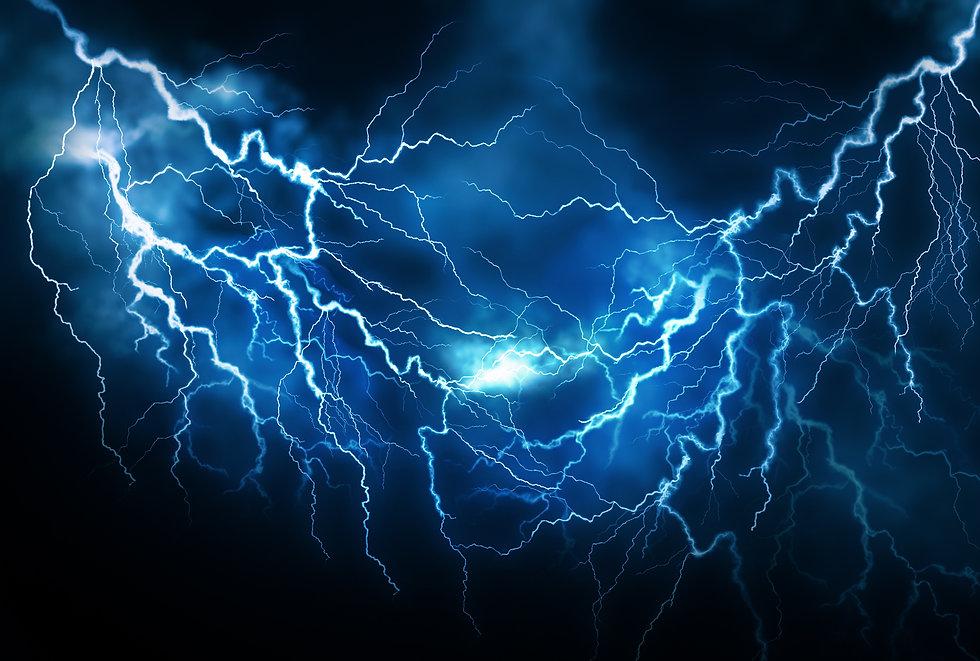 Flash of lightning on dark background. Thunderstorm.jpg
