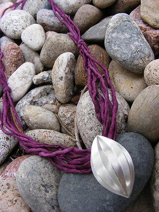 Cocoon Pendant on Raw Silk