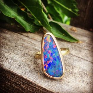 Opal custom design ring