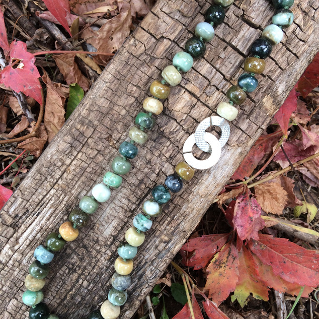 Jade Barrel Bead Necklace
