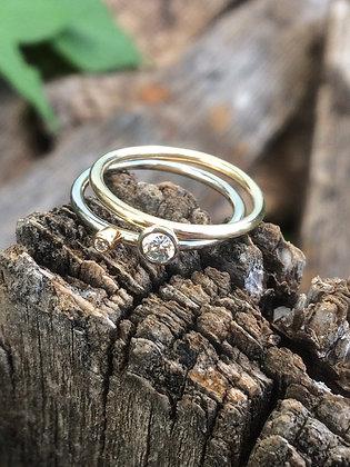 Custom Gold & Diamond Wedding Set