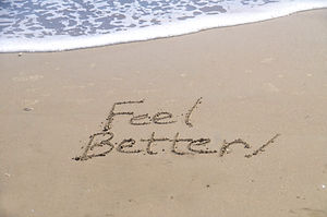 _feel better,_ a message written in the