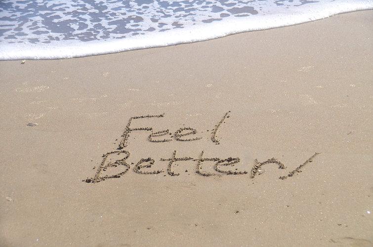 _feel better,_ a message written in the