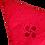 Thumbnail: Essuie mains rond rouge