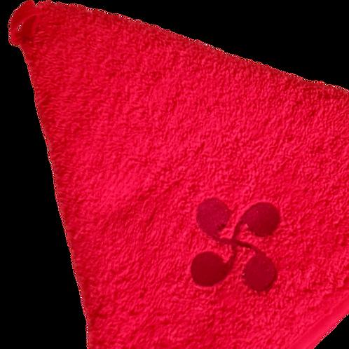 Essuie mains rond rouge