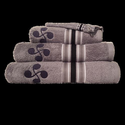 Linge de bain gris clair