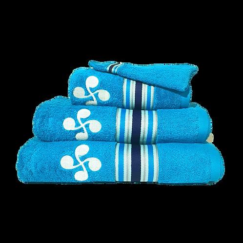 Linge de bain bleu