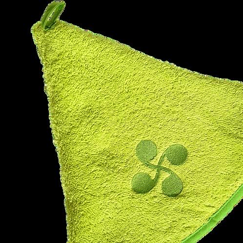 Essuie mains rond vert