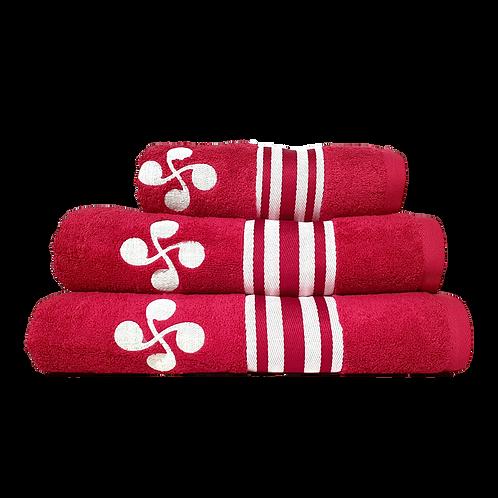 Linge de bain rouge Basque