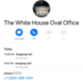 Contact with The White House 24 January