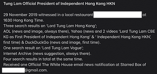 Tung Lam Official President of Independe