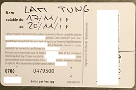 Public Transport Card in Geneva 17-20 No