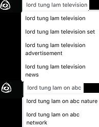 Lord Tung Lam and Television 24 November
