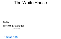Phone call received by Oval Office THe W