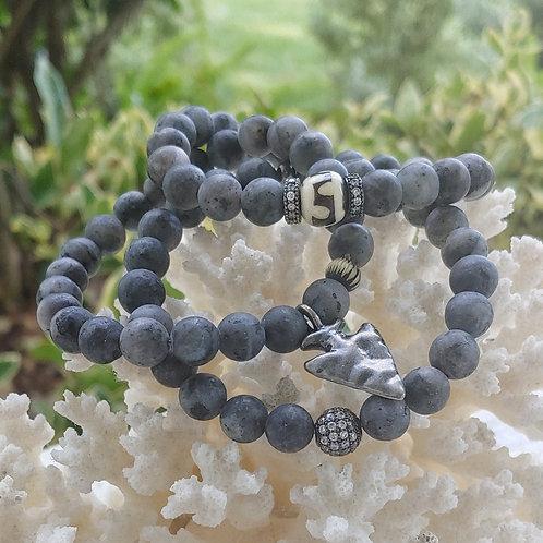 Matte Gray Bracelet Set