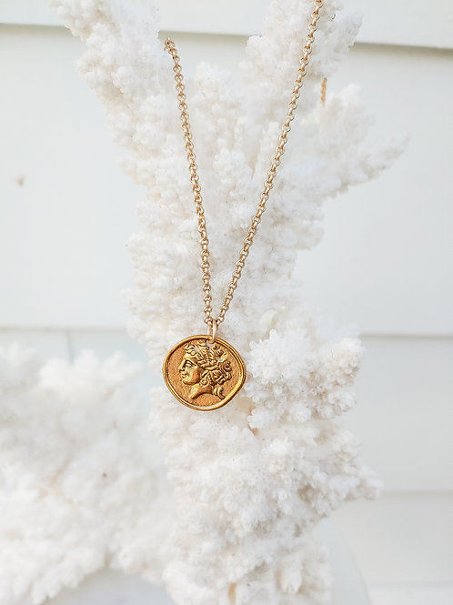 "18"" Coin Shortie Necklace"
