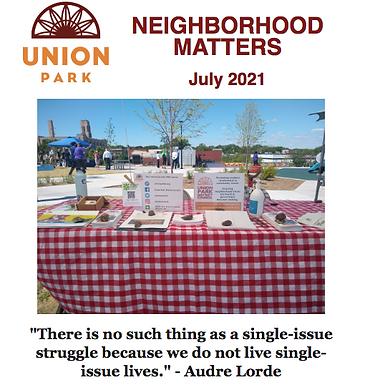 July Neighborhood Matters Newsletter