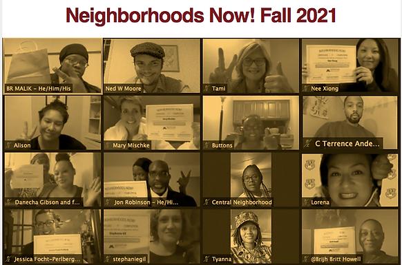 Neighborhoods Now! Fall 2021 Session